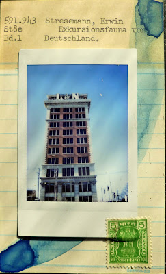library card Dada Fluxus Instax polaroid L&N building Louisville Indiana postage stamp mail art  collage