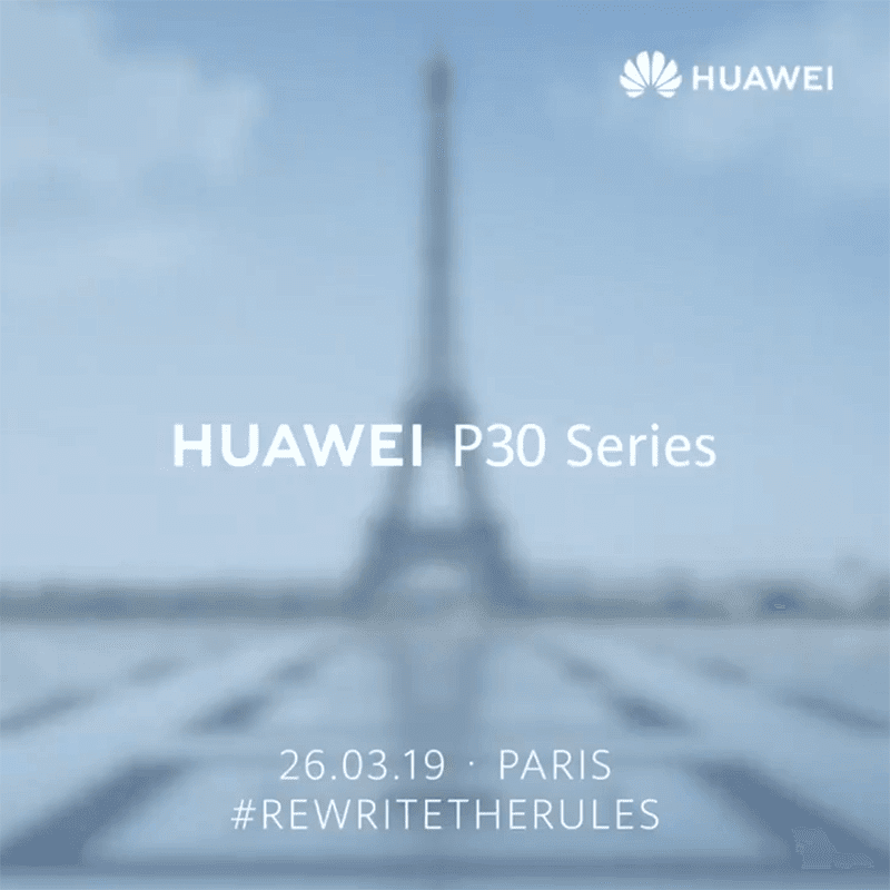 Huawei to launch the P30 in Paris, France on March 26