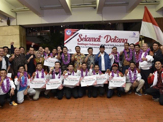 Siswa SMK Indonesia Borong Medali di World Skills Asia 2018