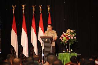 Kapolri Jenderal Pol. Prof. H. Muhammad Tito Karnavian, Ph.D membuka Rapim TNI Polri di STIK-PTIK Jakarta sekaligus pembekalan oleh Menko Polhukam.