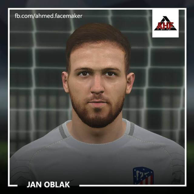 Face Jan Oblak (Atletico de Madrid) PES 2017