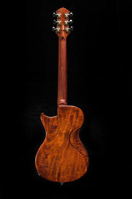 Scott Walker Custom Guitars Katana Mahogany body-Cocobolo neck