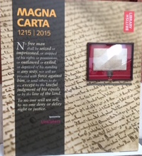 Pic of Magna Carta Exhibition Poster at entrance in British Library