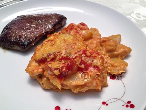 Cheese & Tomato Scalloped Potatoes