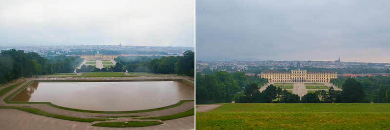 View from the gloriette in Schoönbrunn Palace in Vienna, Austria