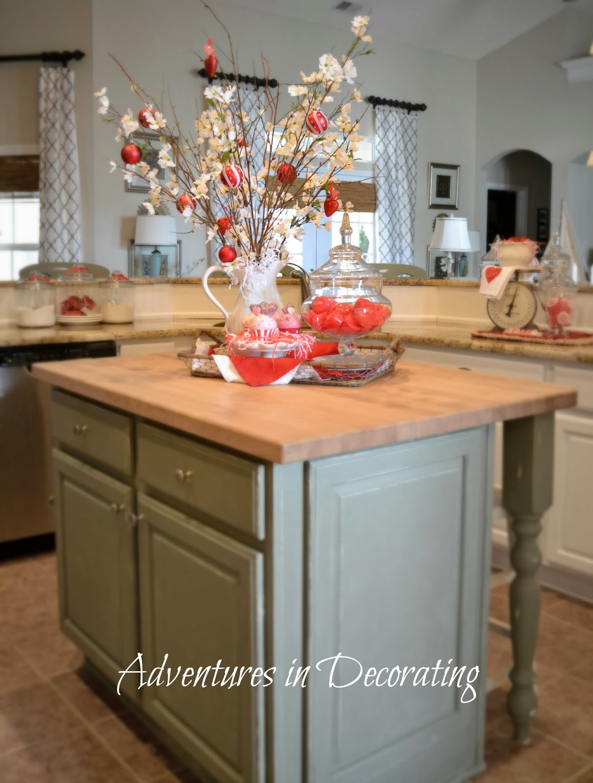 Adventures In Decorating Our Fall Kitchen: Adventures In Decorating: Our Valentine Kitchen