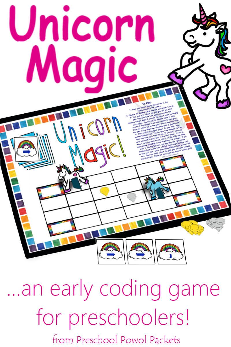 unicorn%2Bgame%2Blabel - Board Games For Kindergarten