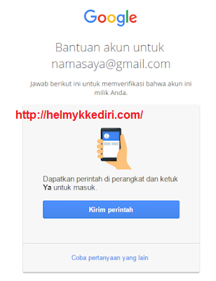 mengembalikan akun google yang dihack3