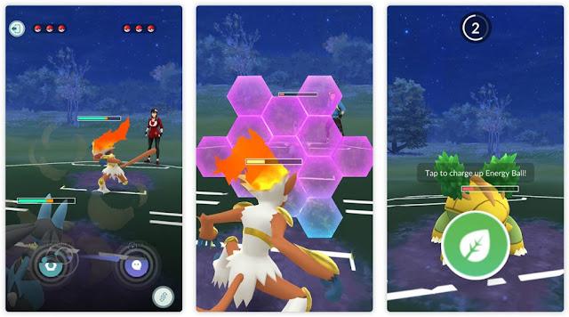 Pertarungan pelatih Pokémon Go