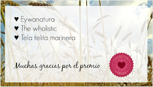 Primer premio del blog. Liebster award
