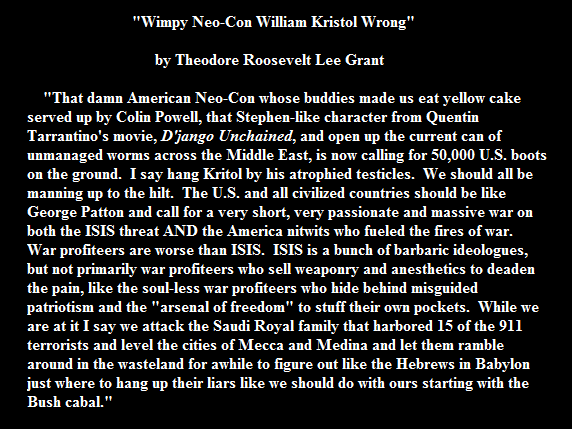 WILLIAM KRISTOL WIMP