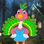 Games4King Cartoon Little Peacock Escape Walkthrough