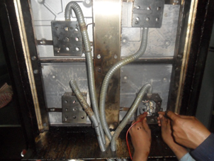 Test insulation and heater condition