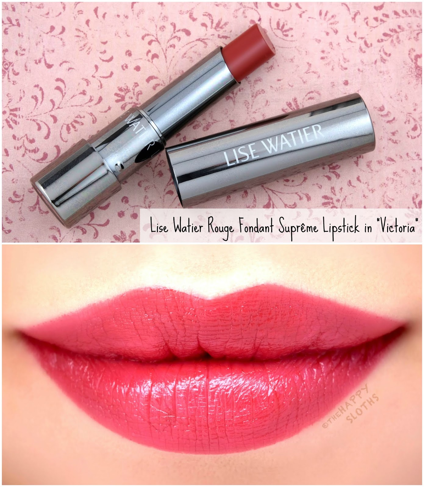 "Lise Watier | *NEW SHADES* Rouge Fondant Suprême Lipstick in ""Victoria"": Review and Swatches"