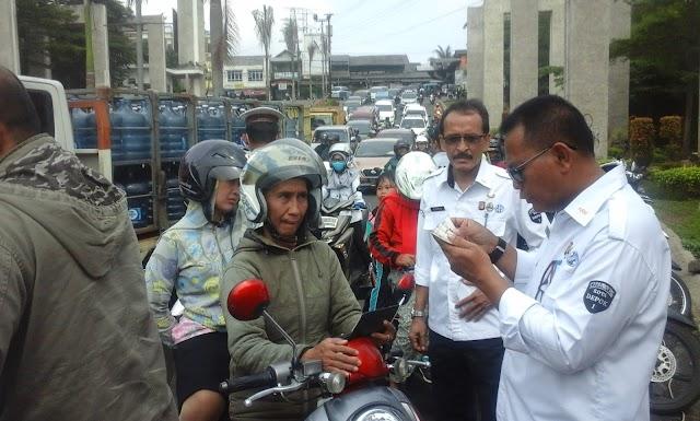 Razia Gabungan Samsat Depok Raih Rp.162 Juta