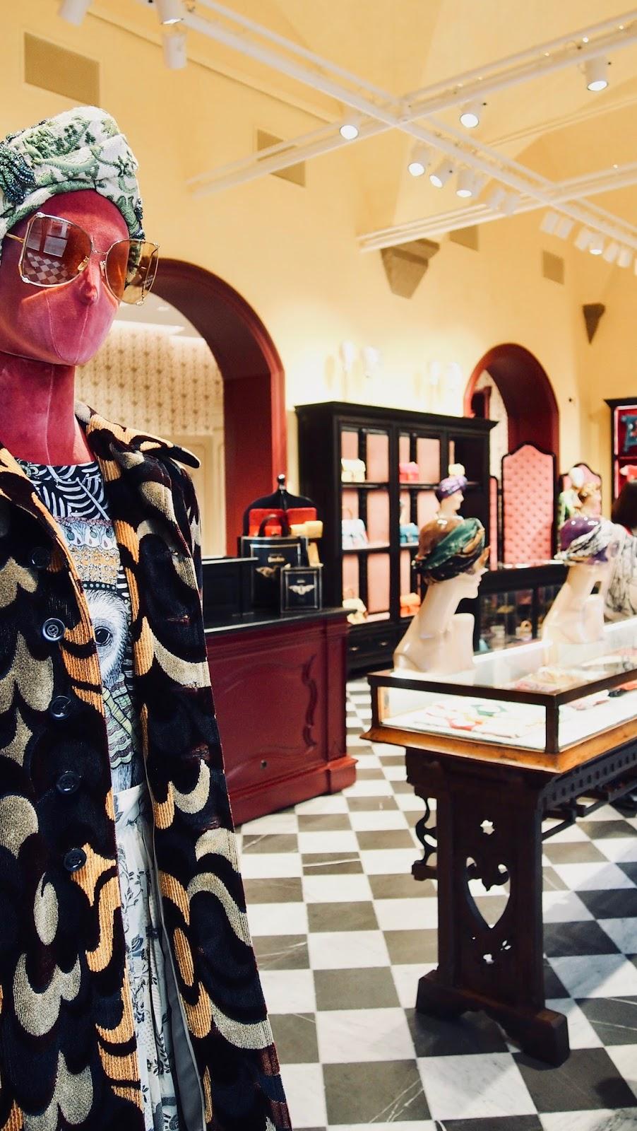 der Museumshop der Gucci Gardens