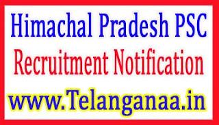 Himachal Pradesh Public Service Commission HPPSC Recruitment Notification 2017
