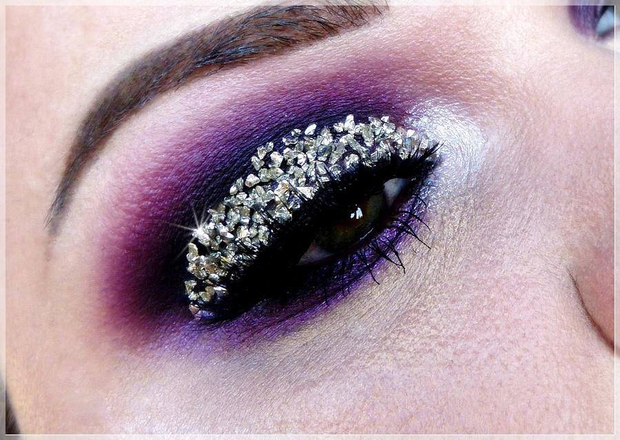 augen makeup look 3d kristall