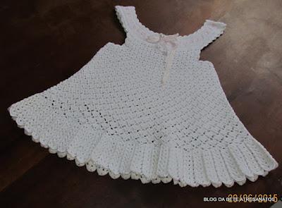 Vestido Infantil em Crochê