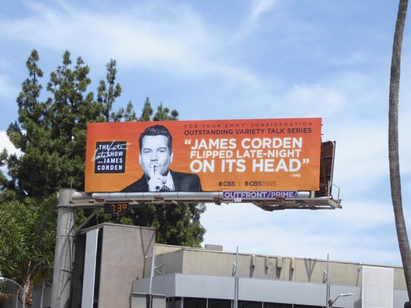 James Corden 2017 Emmy FYC billboard