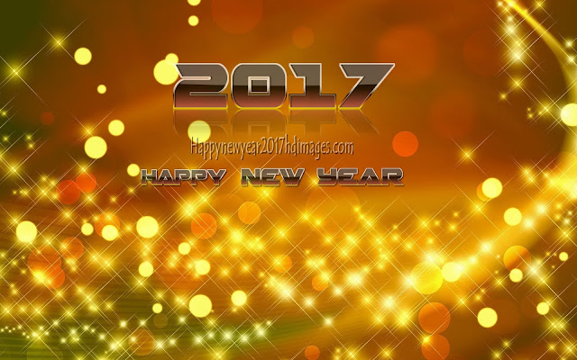Happy New Year 2017 Full HD Desktop Sparkling Background