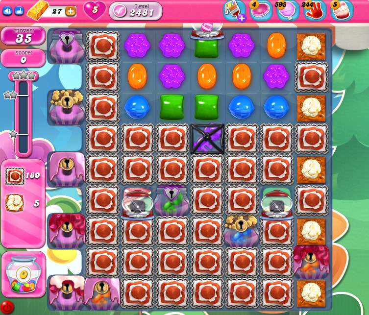 Candy Crush Saga level 2481