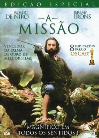"""Cartaz do filme: """"A Missão"""", com Robert De Niro"""