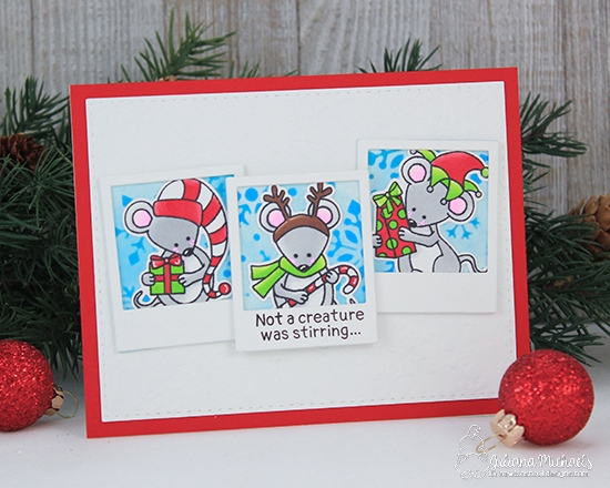 Not a Creature was Stirring Card by Juliana Michaels | Naughty or Mice Stamp Set by Newton's Nook Designs #newtonsnook #handmade