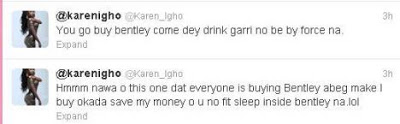 IS KAREN IGHO TRING TO DISS A COLLEAGUE