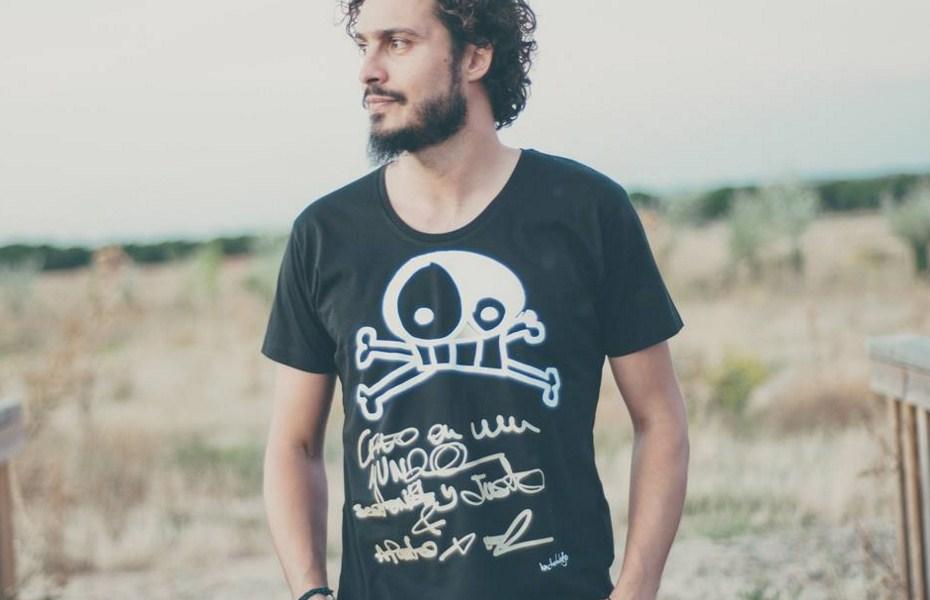 Oferta camiseta algodón orgánico bichobichejo calavera