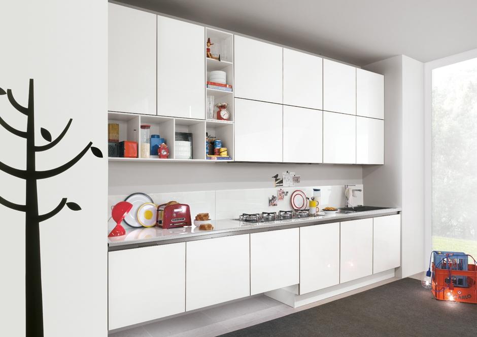 Cocinas lineales grandes y peque as cocinas con estilo - Disenar tu cocina ...