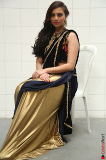 Priyanka Ramana in Beautiful Designer Black Saree At We Craft Elegance Expo Launch 007.JPG