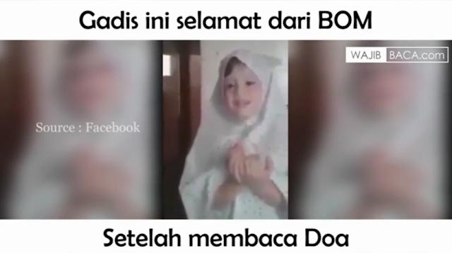 Subhanallah! Gadis ini Selamat Dari Bom Setelah Membaca Doa