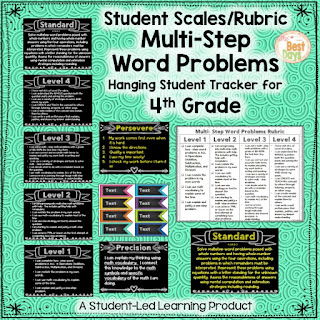 This is a rubric for helping students gain skill in Multi-Step Word Problems that you can print and hang in a classroom.