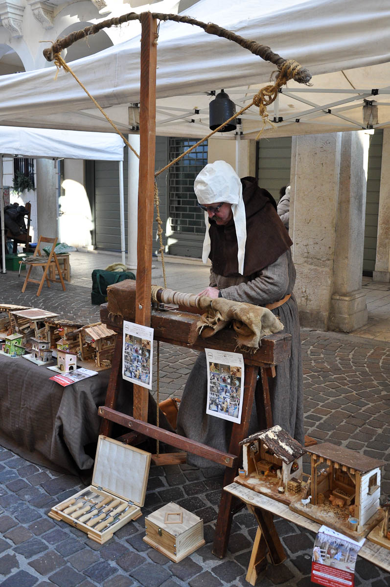 A carpenter, Old crafts festival, Corso Fogazzaro, Vicenza, Veneto, Italy-2