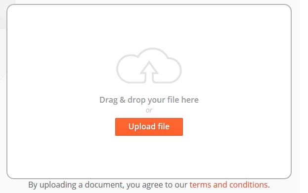 Upload translate PDF