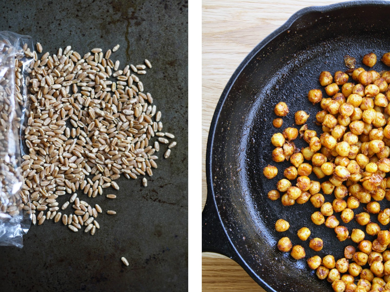 Roasted Squash, Chickpea and Wheat Berry Salad // sevengrams