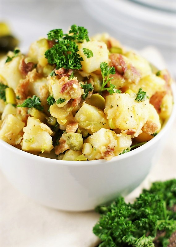 German Potato Salad With Dill Pickles