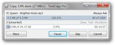 Using TeraCopy To Get High speed of Data Transfer