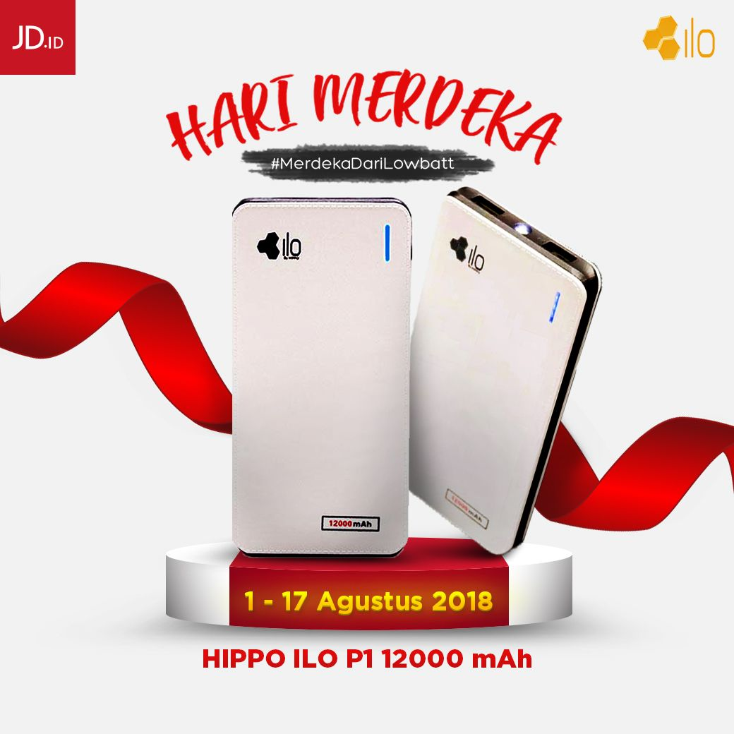 JdID  - Promo Powerbank Hippo 12000 mAH Cuma 99 Ribu Saja