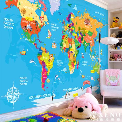 världskarta tapet barnrum rolig tapet fototapet barn