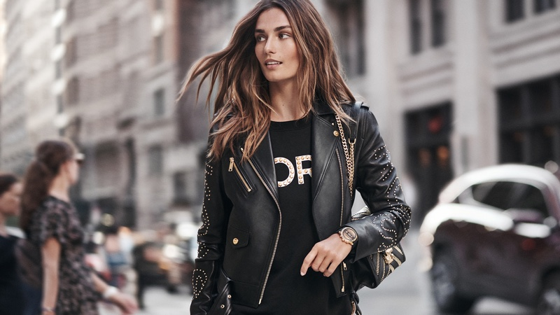 Andreea Diaconu is a City Girl in Michael Kors Smartwatch Campaign