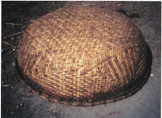 Vietnamese coracle matting detail
