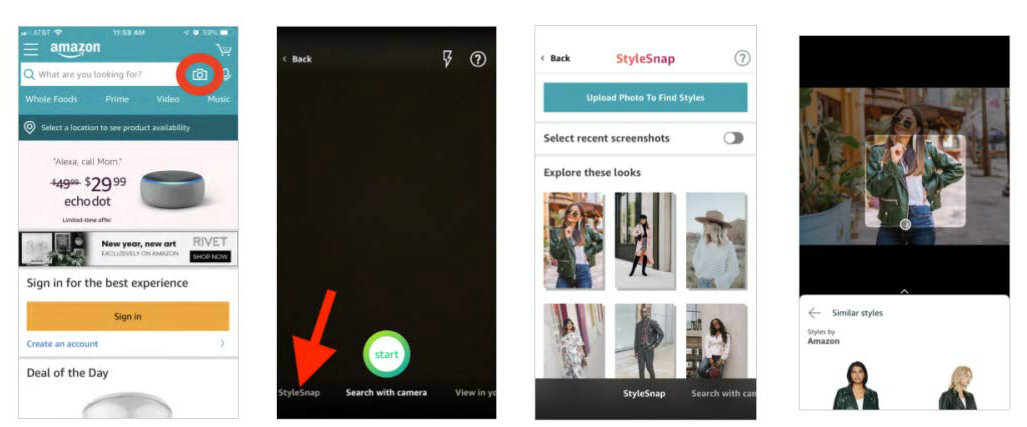 Amazon Introduces 'StyleSnap' To Compete With Pinterest