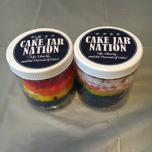 Cake Jar, Cake Jar Nation, dessert, The Beauty of Life, Chocolate Cake Jar, Vanilla Rainbow Cake Jar