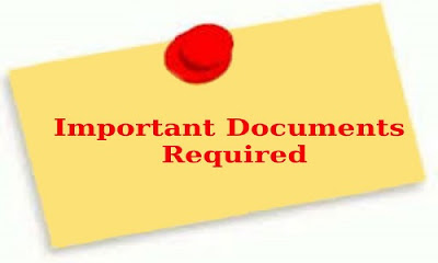 Documents required to be submitted