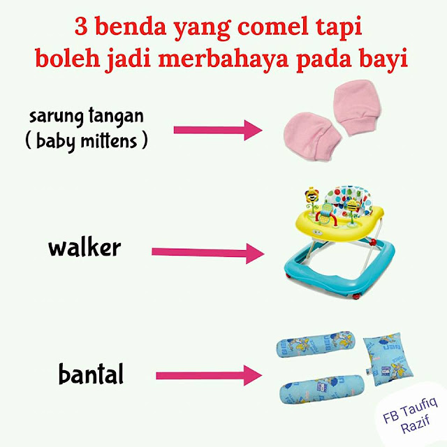 Siapa Sangka Tiga Benda Comel Ini Sebenarnya Bahaya Kepada Bayi