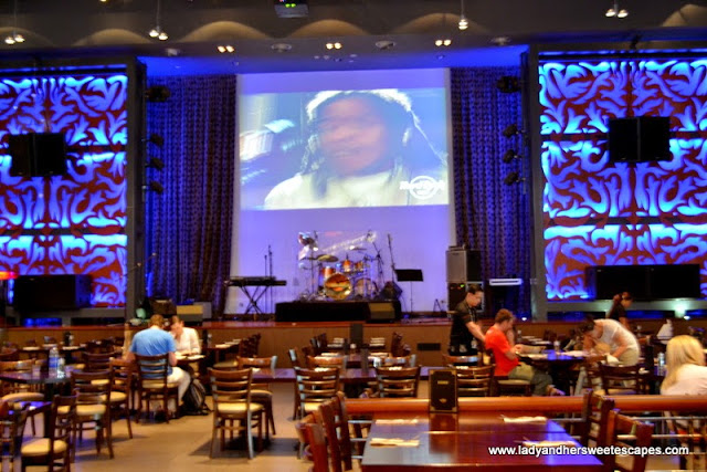 Inside hard Rock cafe