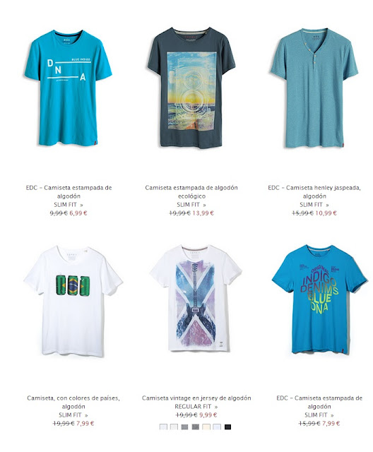 camisetas hombres esprit