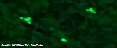 UFOs Captured on Night Vision Over Germany 9-18-13